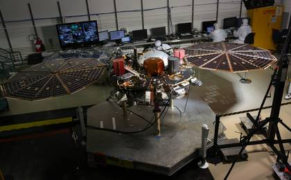 see the image 'InSight Lander Solar Array Test'