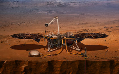 see the image 'InSight Probes the 'Inner Space' of Mars'