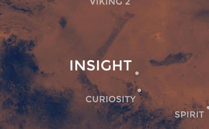 see the image 'InSight's Landing Site: Elysium Planitia'