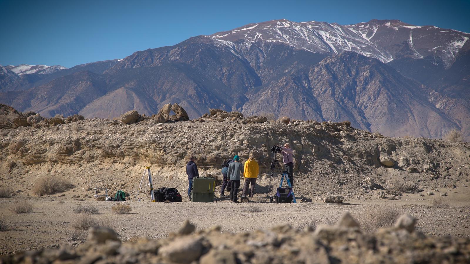 Field Team Sets up in Nevada Desert