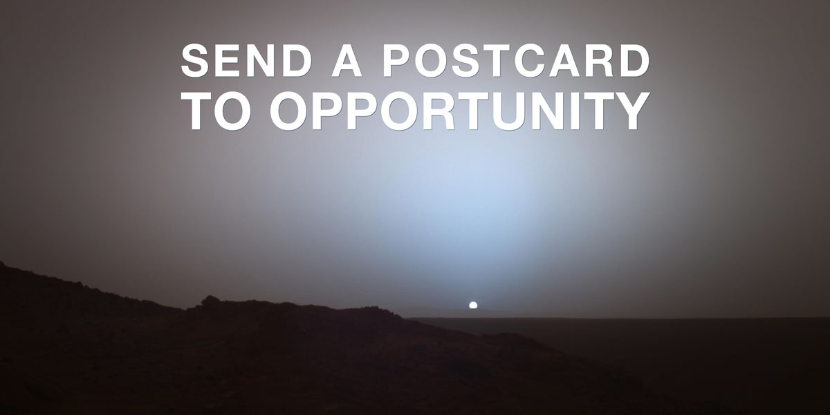 Mars: Send A Postcard Opportunity