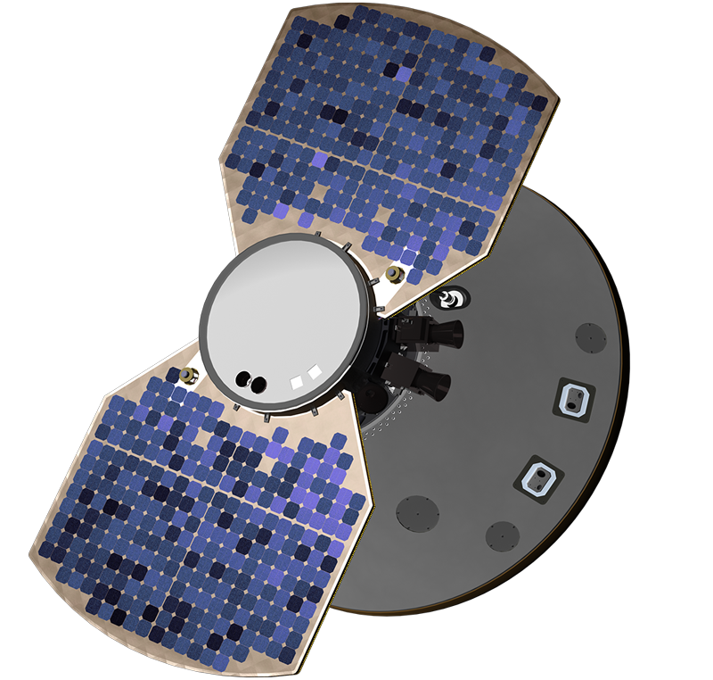 Artist's concept of the InSight on it's way to Mars