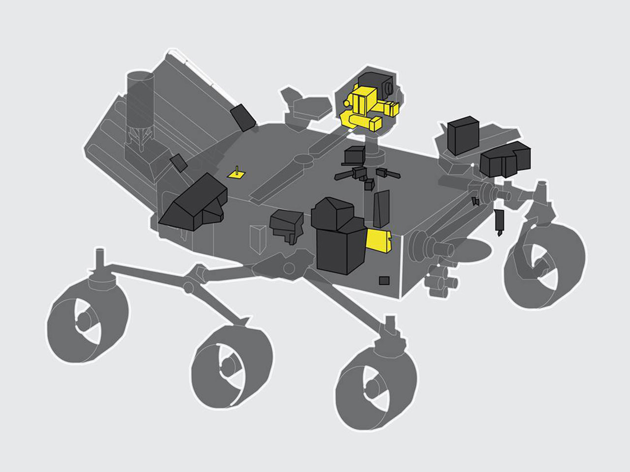 Mastcam-Z highlighted on the Mars 2020 Rover
