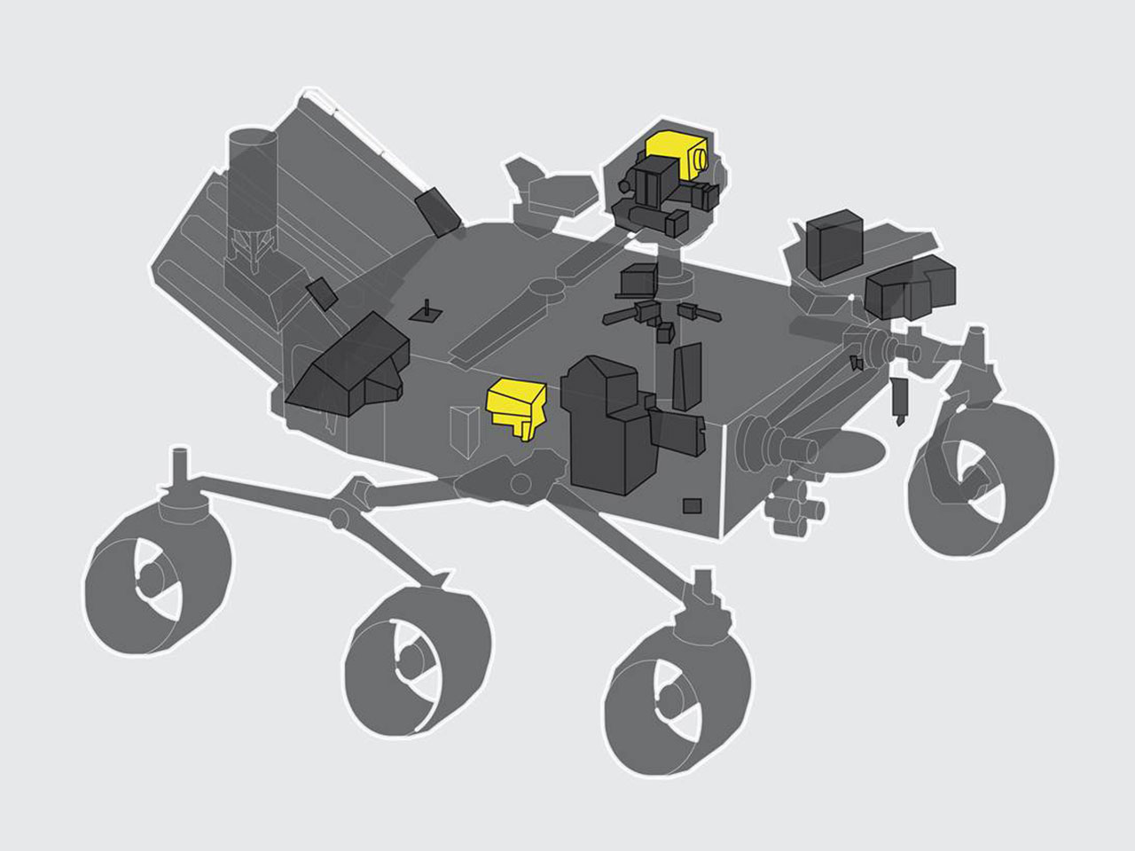 SuperCam highlighted on the Mars 2020 Rover