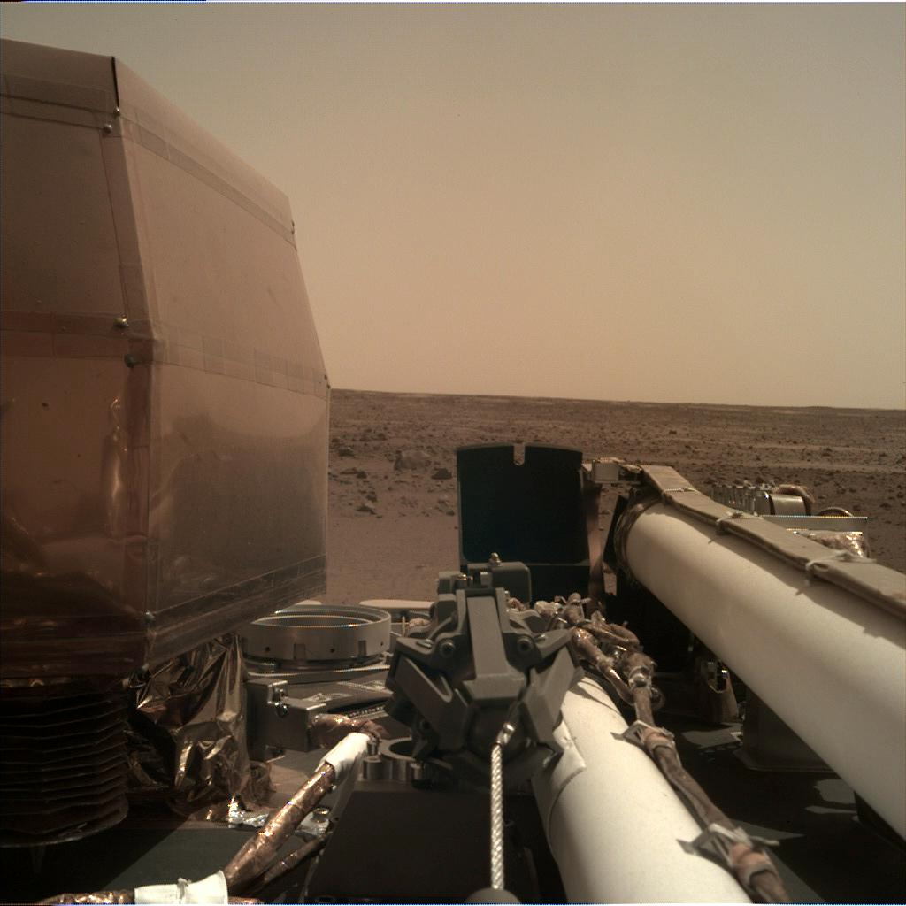 Nasa's Mars lander InSight acquired this image using its Instrument Deployment Camera on Sol 4