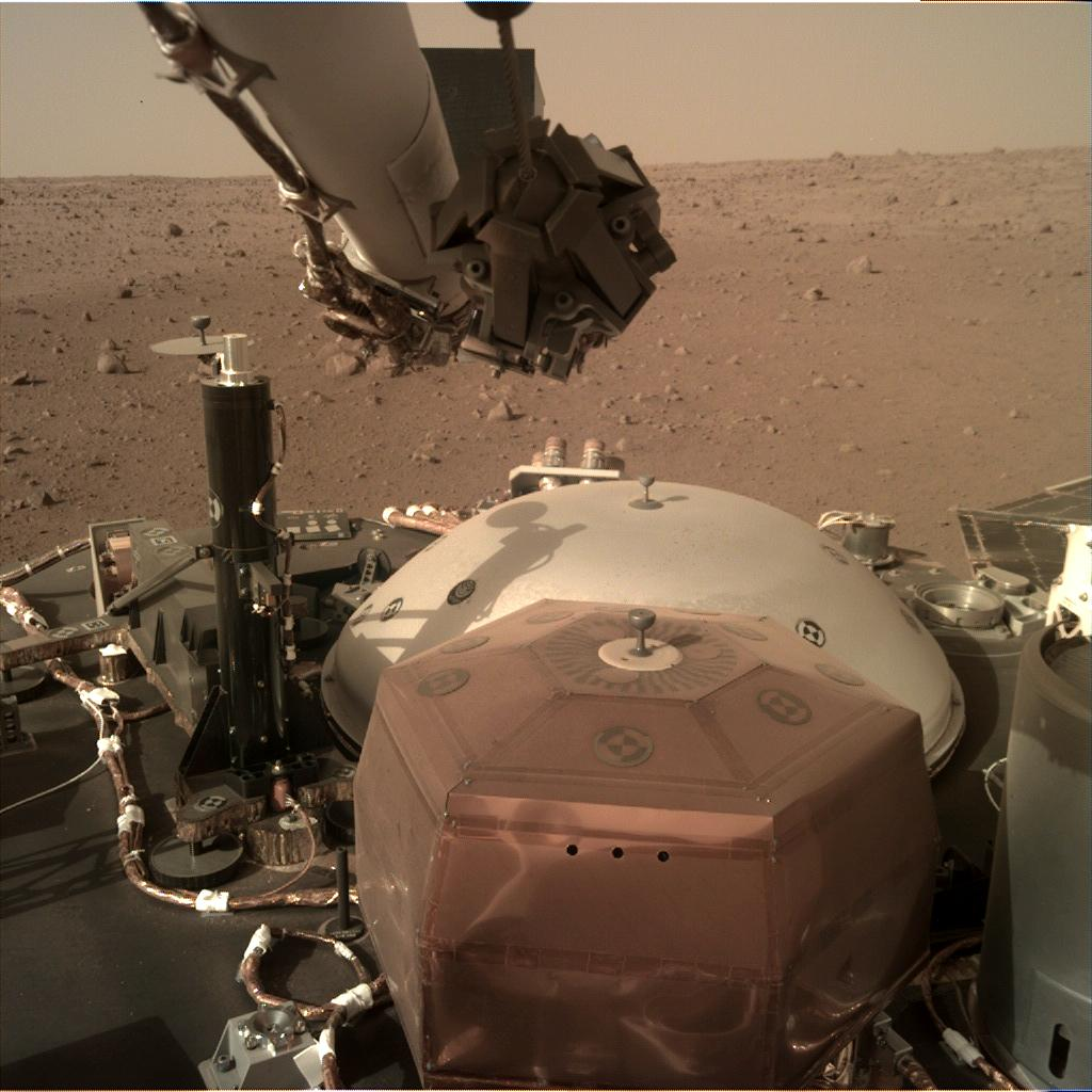 Nasa's Mars lander InSight acquired this image using its Instrument Deployment Camera on Sol 8