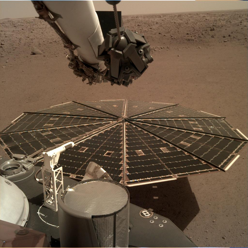 Nasa's Mars lander InSight acquired this image using its Instrument Deployment Camera on Sol 10