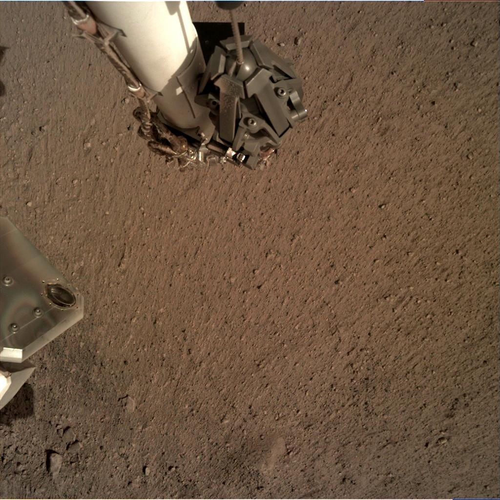 Nasa's Mars lander InSight acquired this image using its Instrument Deployment Camera on Sol 12