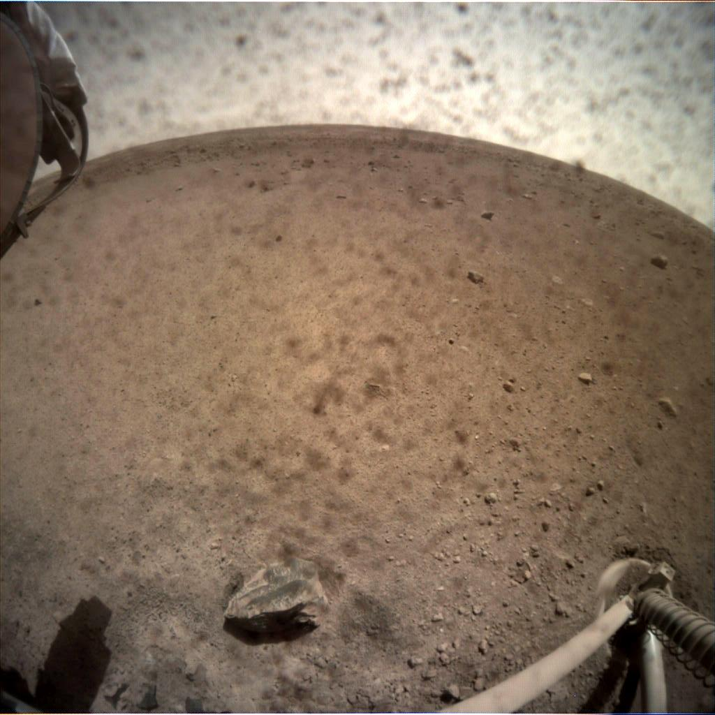 Nasa's Mars lander InSight acquired this image using its Instrument Context Camera on Sol 16