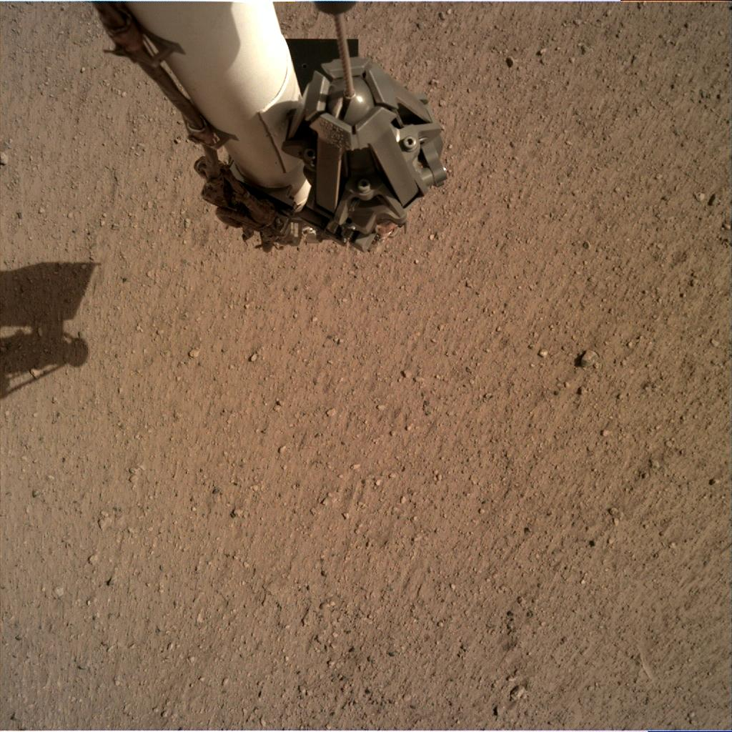 Nasa's Mars lander InSight acquired this image using its Instrument Deployment Camera on Sol 16
