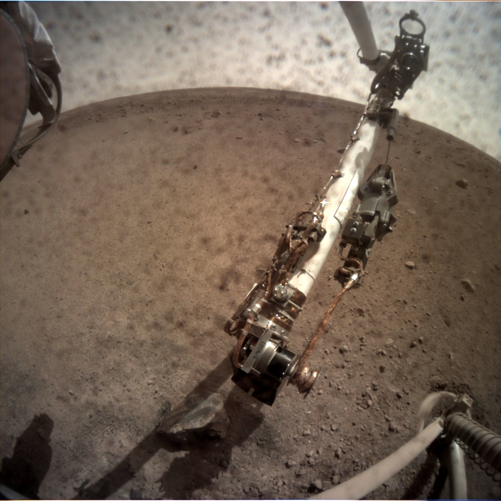 Nasa's Mars lander InSight acquired this image using its Instrument Context Camera on Sol 18