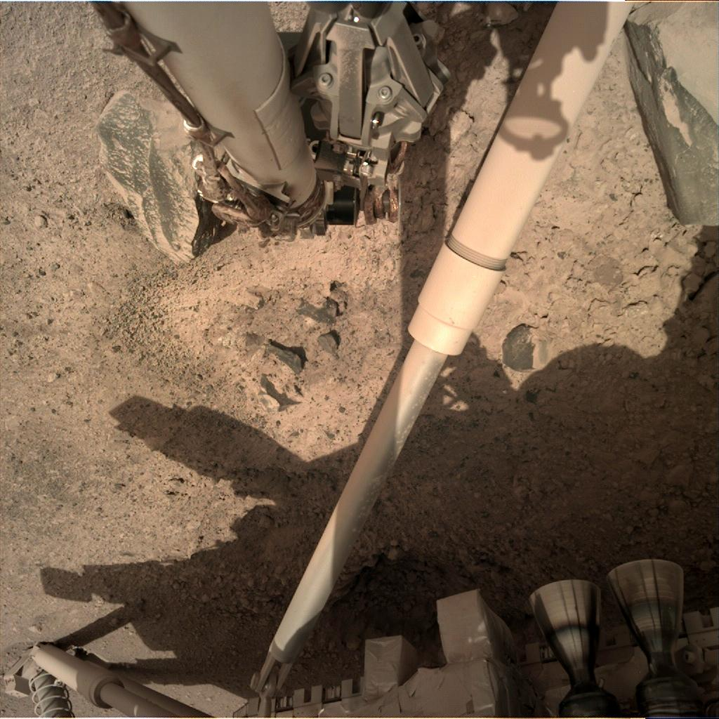Nasa's Mars lander InSight acquired this image using its Instrument Deployment Camera on Sol 18