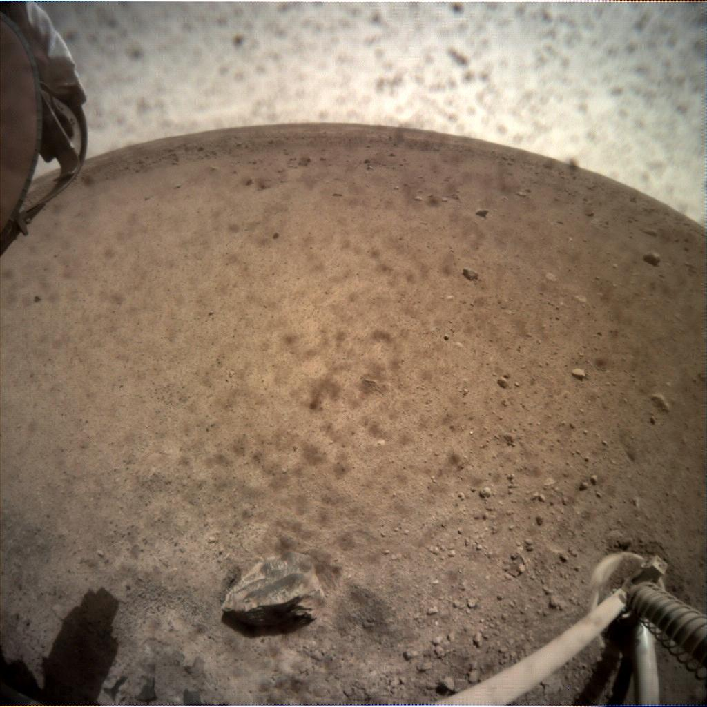 Nasa's Mars lander InSight acquired this image using its Instrument Context Camera on Sol 20
