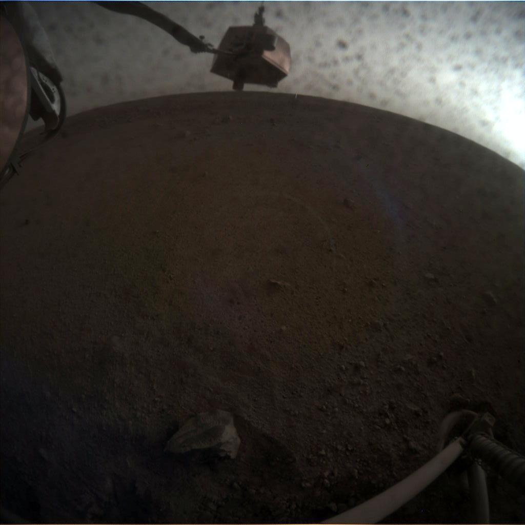 Nasa's Mars lander InSight acquired this image using its Instrument Context Camera on Sol 22