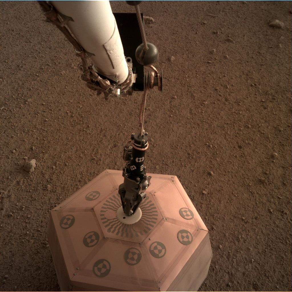 Nasa's Mars lander InSight acquired this image using its Instrument Deployment Camera on Sol 22