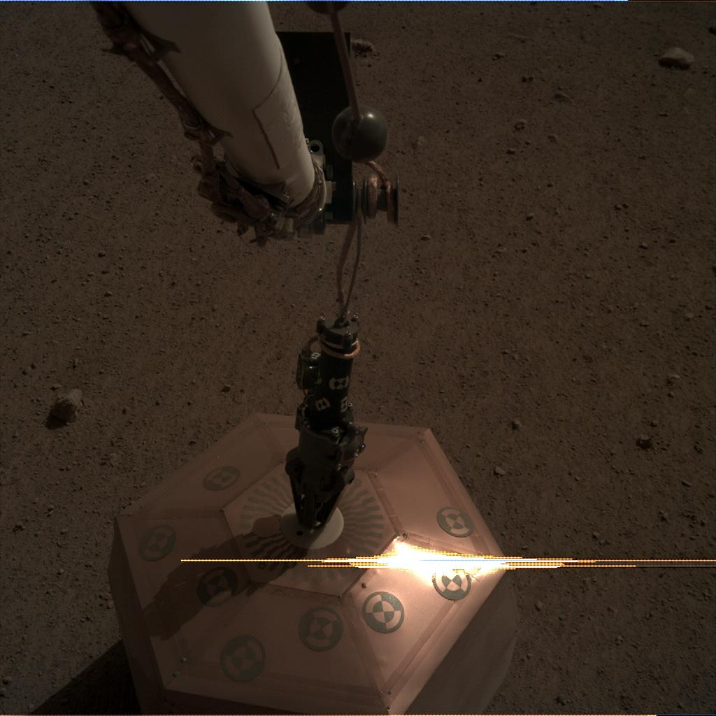 Nasa's Mars lander InSight acquired this image using its Instrument Deployment Camera on Sol 23