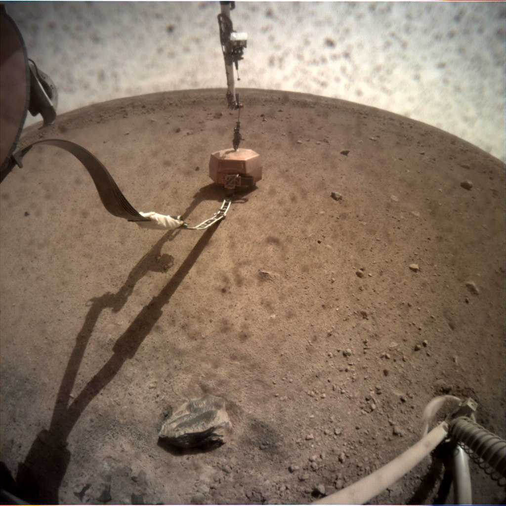 Nasa's Mars lander InSight acquired this image using its Instrument Context Camera on Sol 24