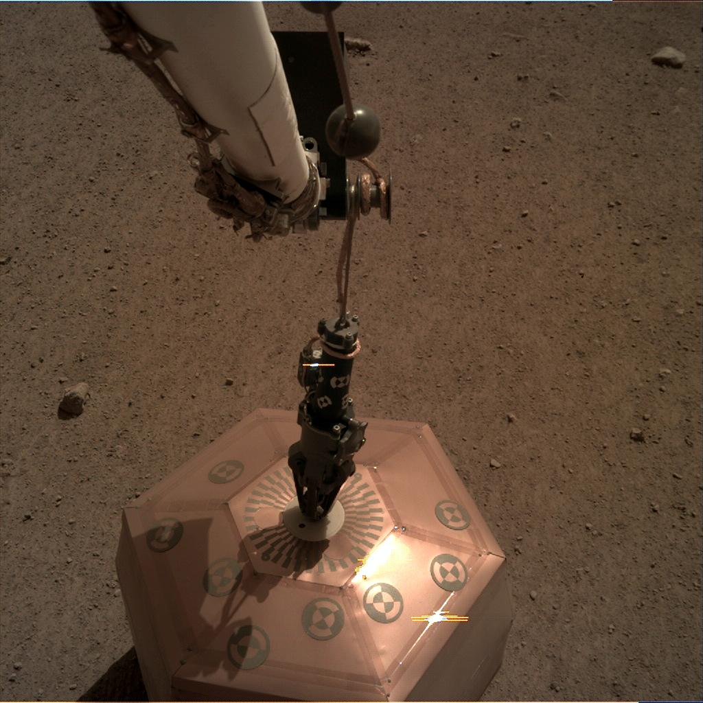 Nasa's Mars lander InSight acquired this image using its Instrument Deployment Camera on Sol 24