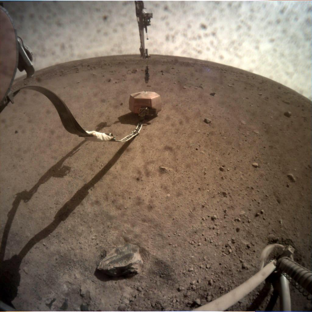 Nasa's Mars lander InSight acquired this image using its Instrument Context Camera on Sol 25