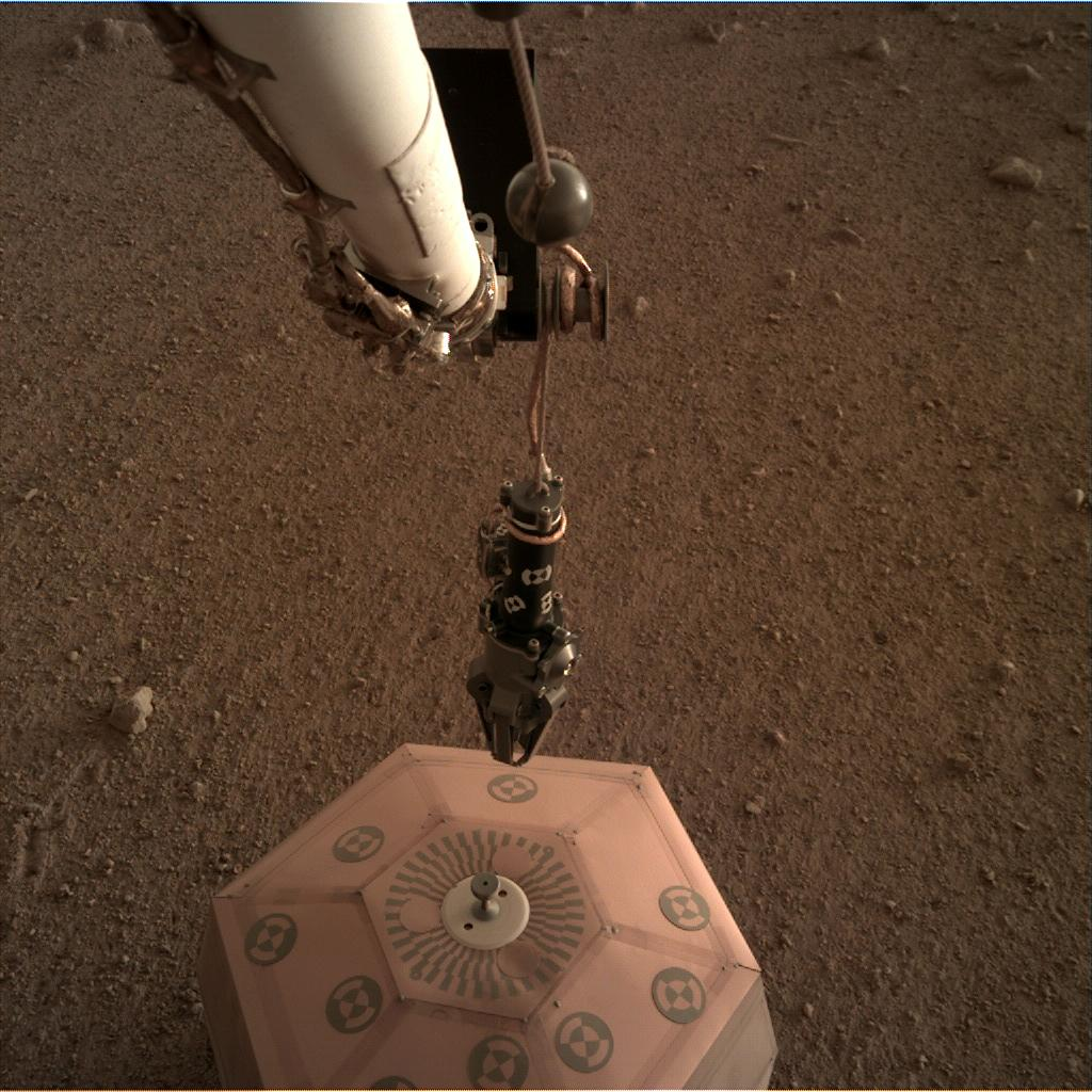 Nasa's Mars lander InSight acquired this image using its Instrument Deployment Camera on Sol 25