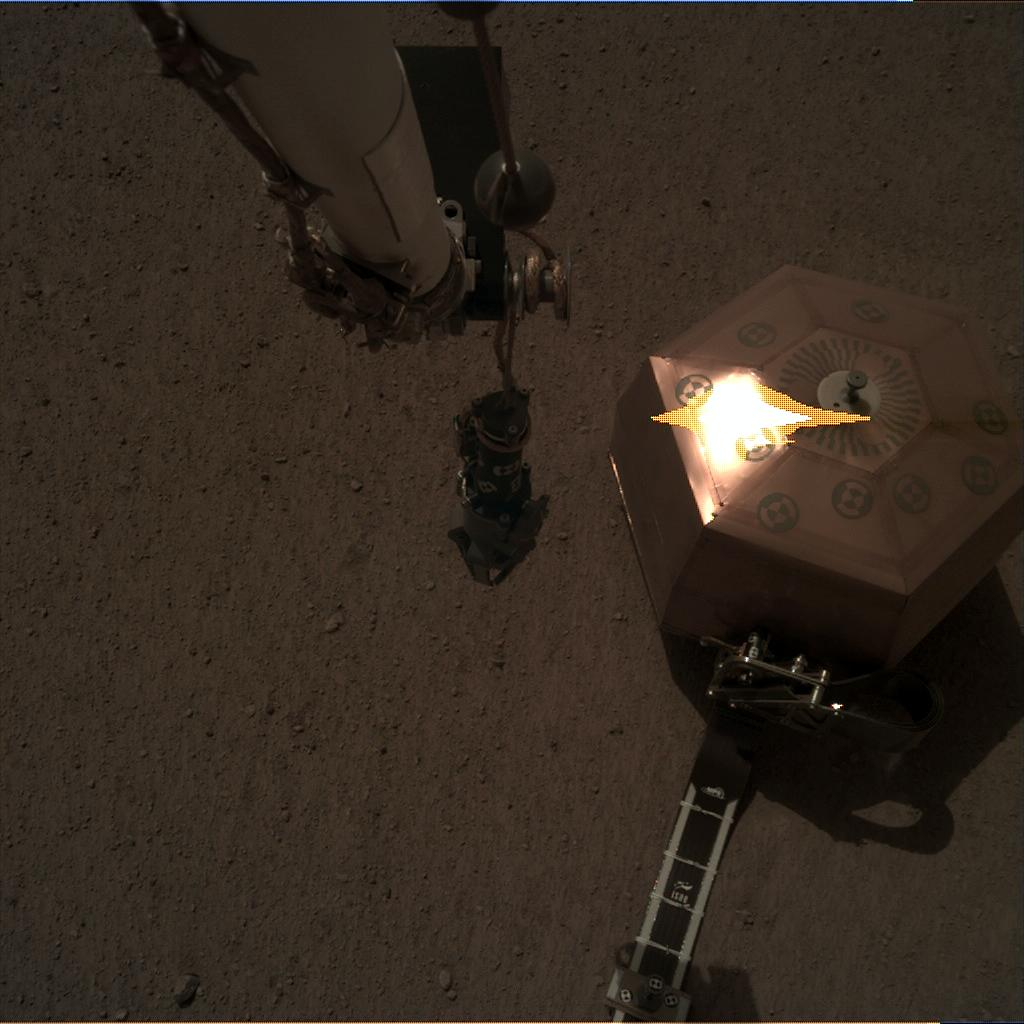 Nasa's Mars lander InSight acquired this image using its Instrument Deployment Camera on Sol 26