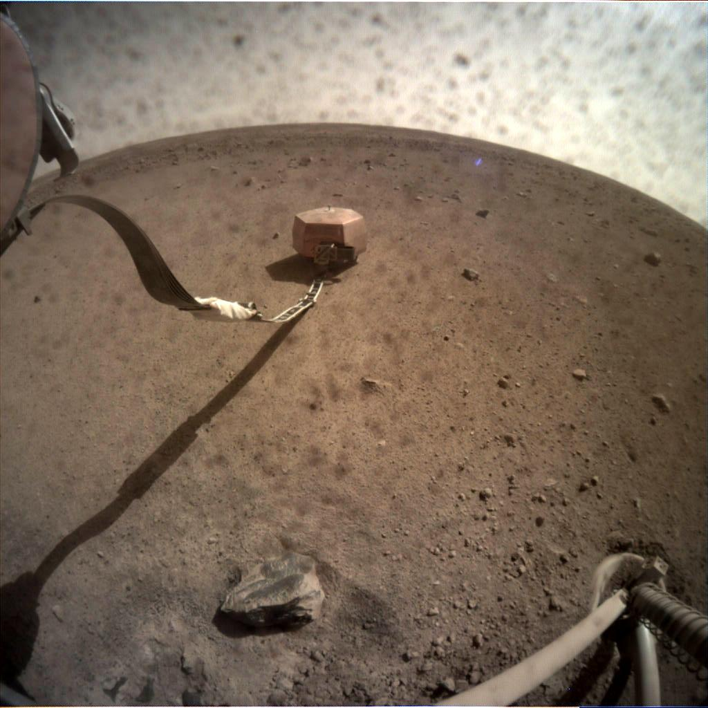 Nasa's Mars lander InSight acquired this image using its Instrument Context Camera on Sol 30