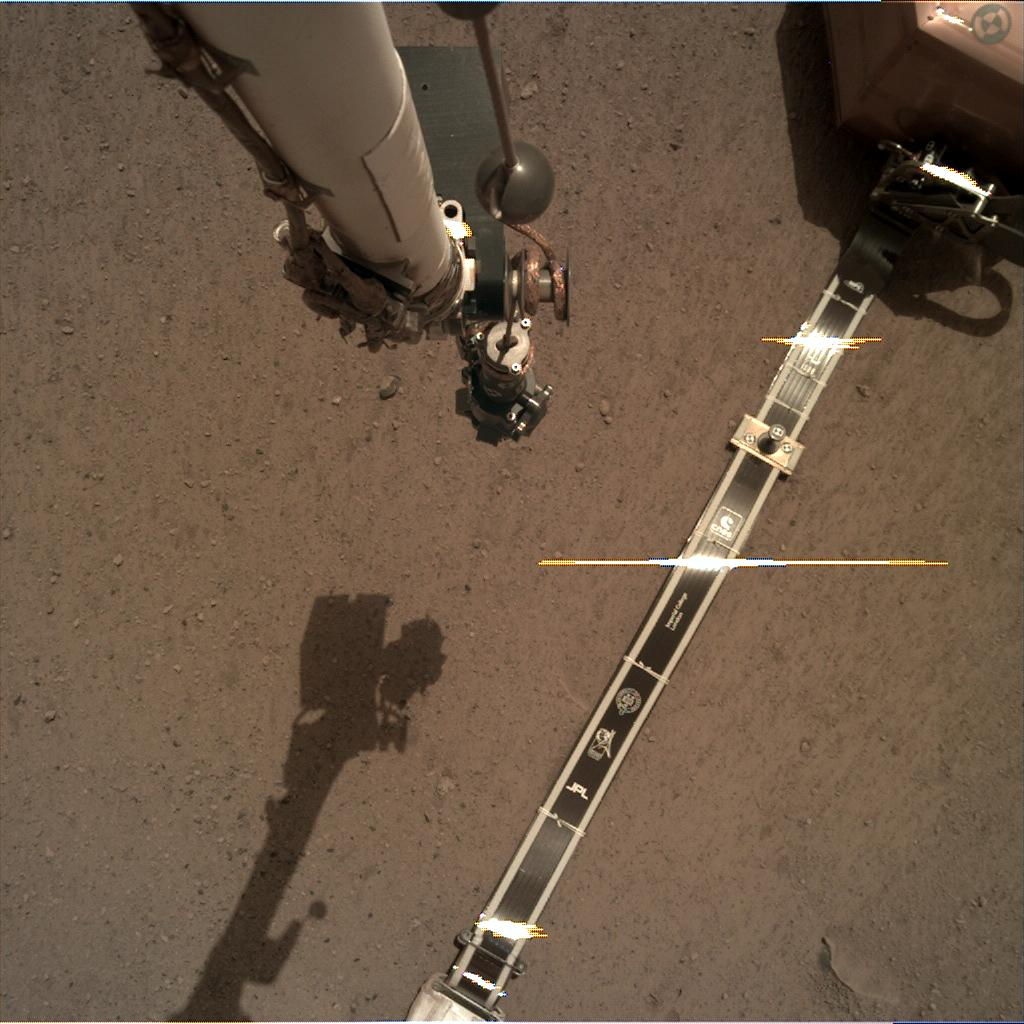 Nasa's Mars lander InSight acquired this image using its Instrument Deployment Camera on Sol 37