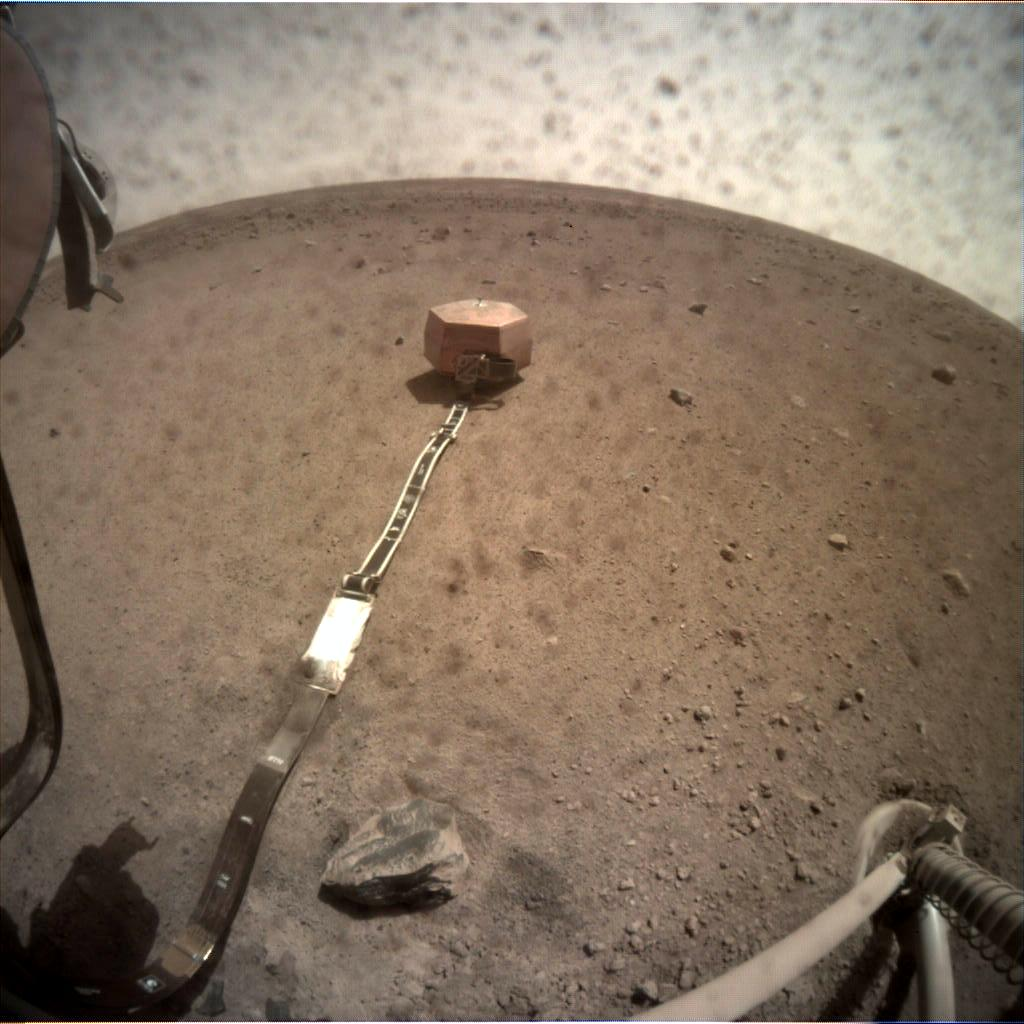 Nasa's Mars lander InSight acquired this image using its Instrument Context Camera on Sol 38