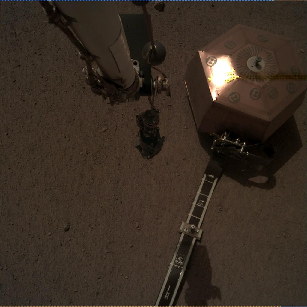 Nasa's Mars lander InSight acquired this image using its Instrument Deployment Camera on Sol 38