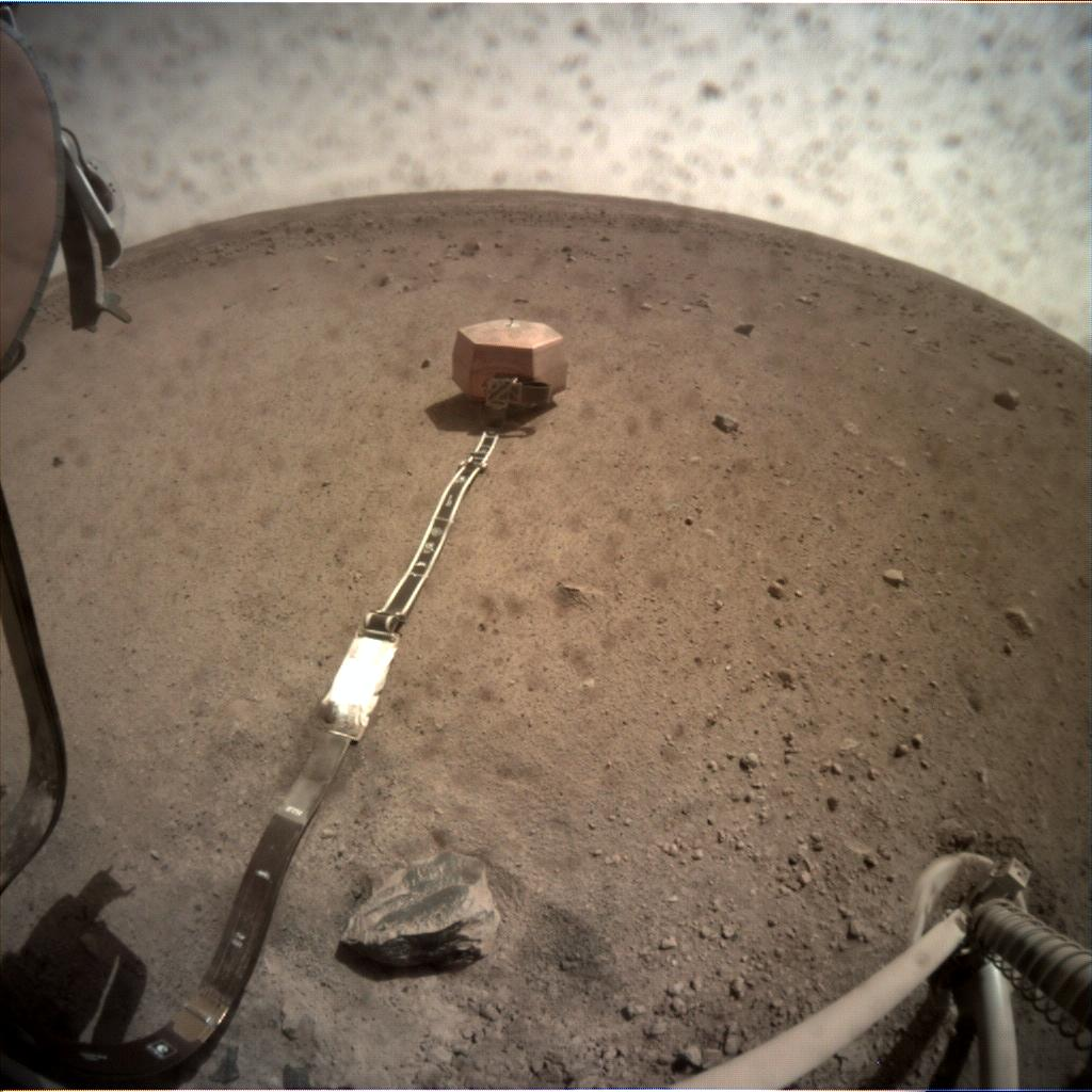 Nasa's Mars lander InSight acquired this image using its Instrument Context Camera on Sol 39