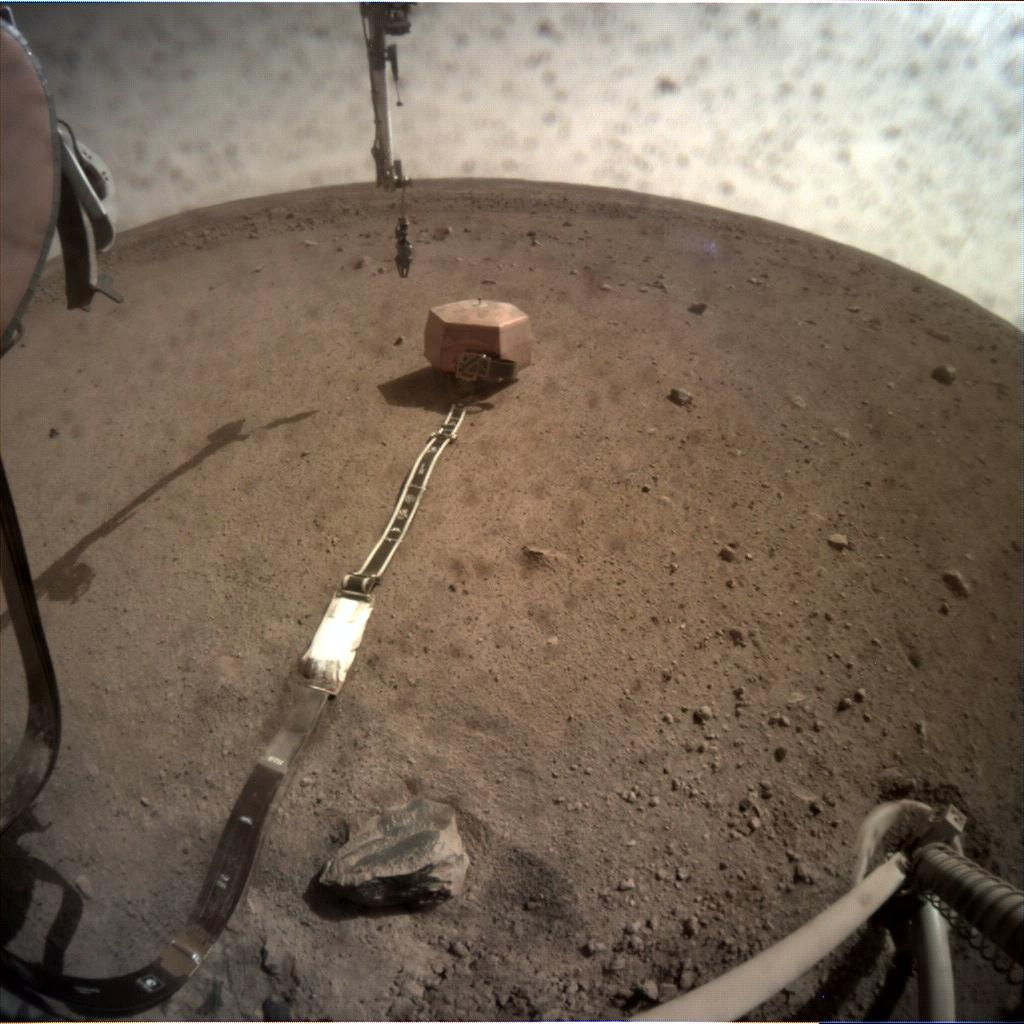 Nasa's Mars lander InSight acquired this image using its Instrument Context Camera on Sol 40