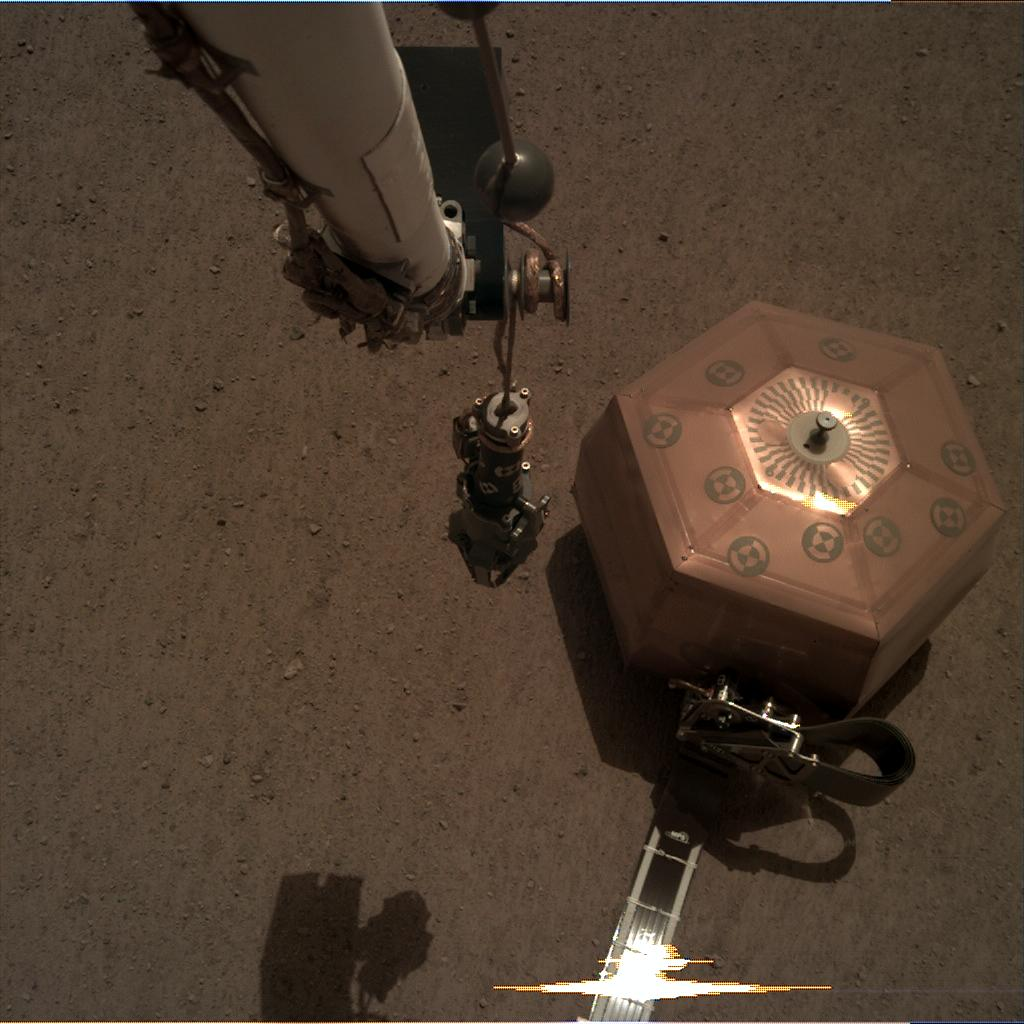 Nasa's Mars lander InSight acquired this image using its Instrument Deployment Camera on Sol 40