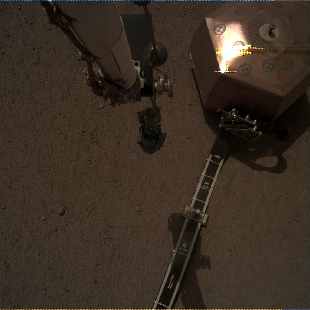 Nasa's Mars lander InSight acquired this image using its Instrument Deployment Camera on Sol 41