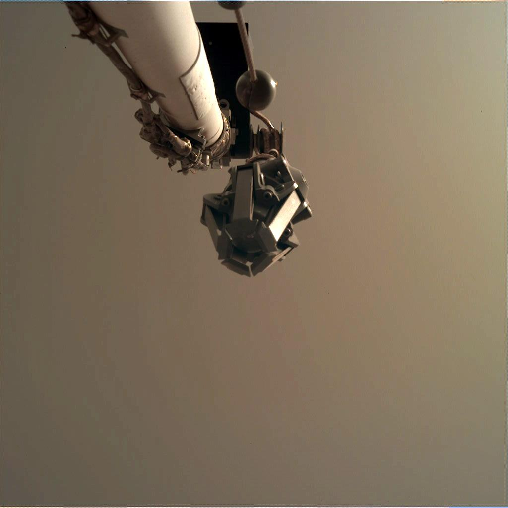 Nasa's Mars lander InSight acquired this image using its Instrument Deployment Camera on Sol 42
