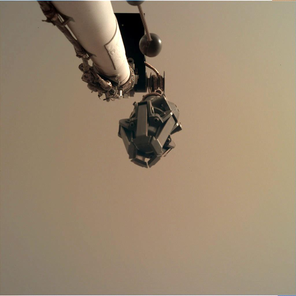 Nasa's Mars lander InSight acquired this image using its Instrument Deployment Camera on Sol 44