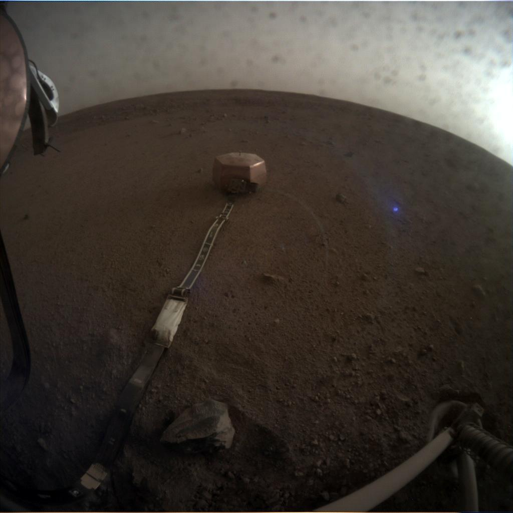 Nasa's Mars lander InSight acquired this image using its Instrument Context Camera on Sol 46