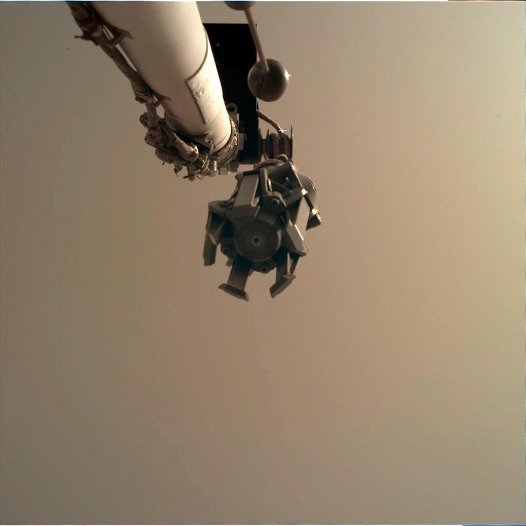 Nasa's Mars lander InSight acquired this image using its Instrument Deployment Camera on Sol 46