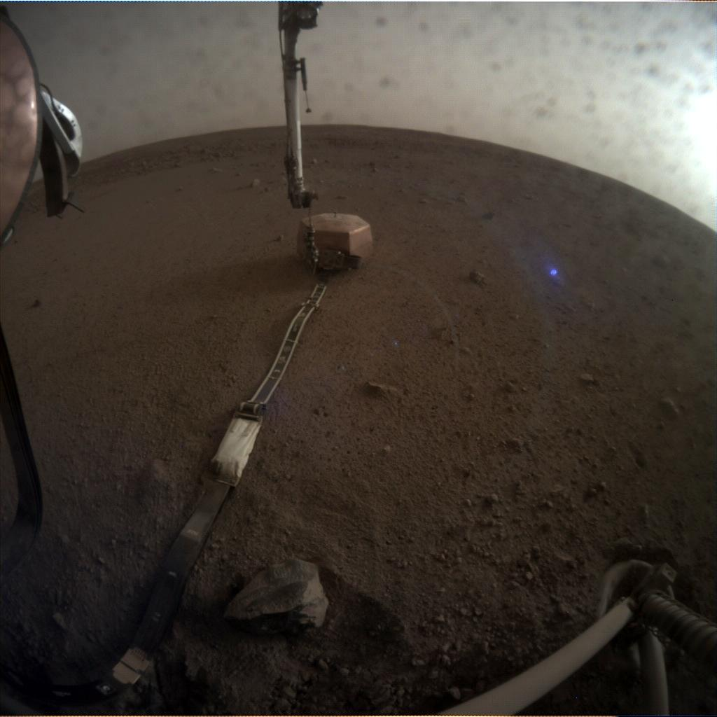 Nasa's Mars lander InSight acquired this image using its Instrument Context Camera on Sol 48