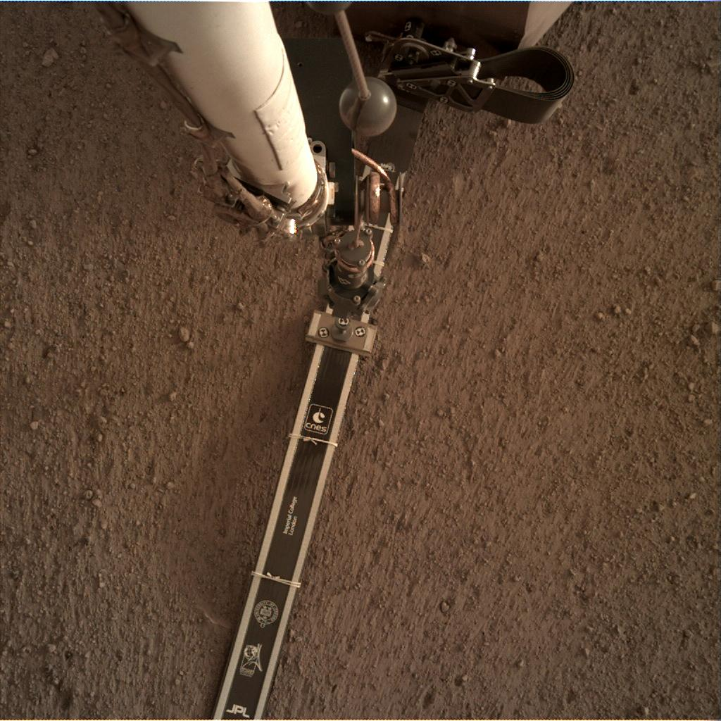 Nasa's Mars lander InSight acquired this image using its Instrument Deployment Camera on Sol 48