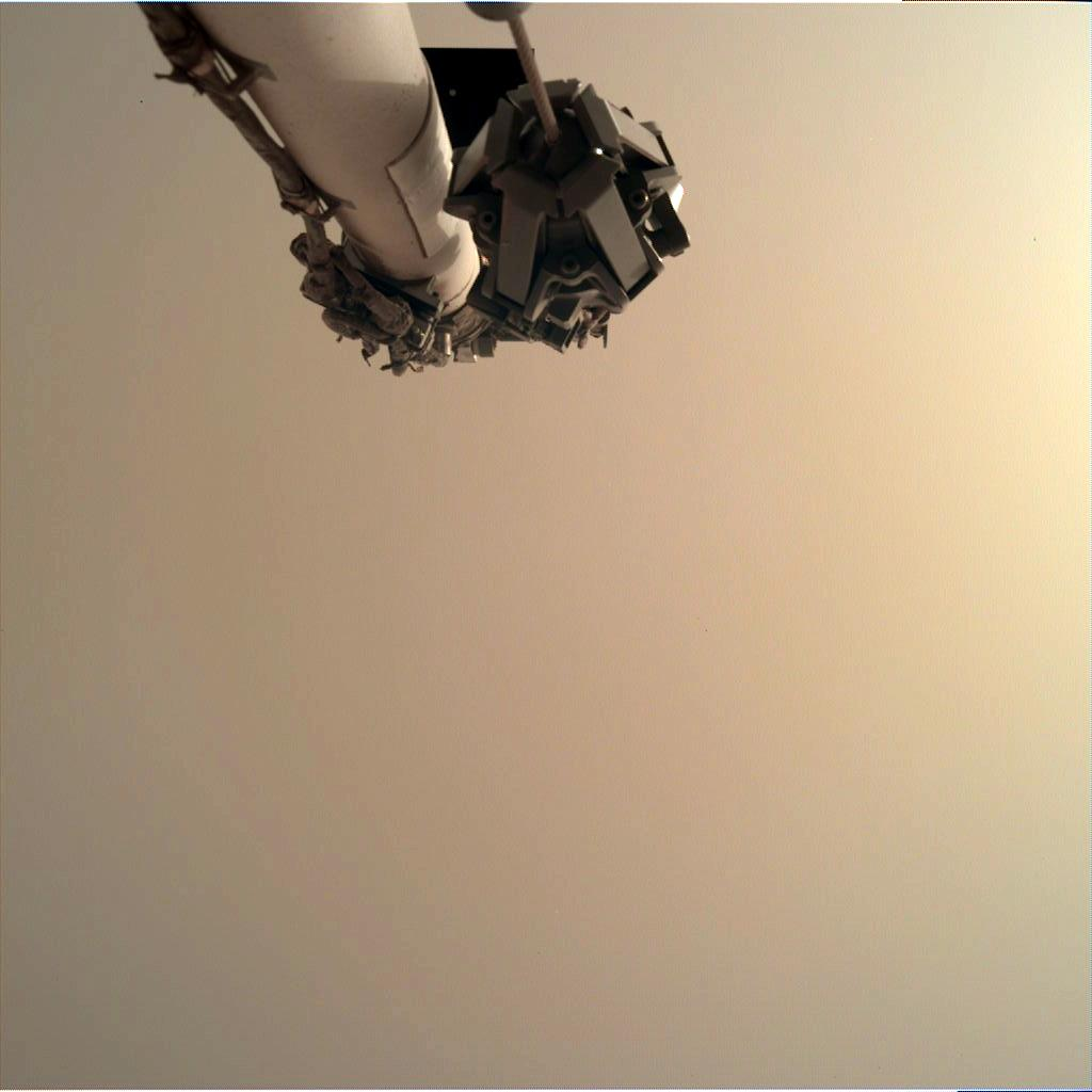 Nasa's Mars lander InSight acquired this image using its Instrument Deployment Camera on Sol 50