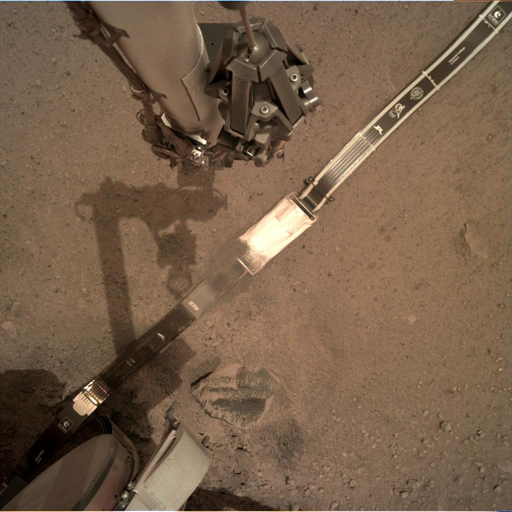 Nasa's Mars lander InSight acquired this image using its Instrument Deployment Camera on Sol 53