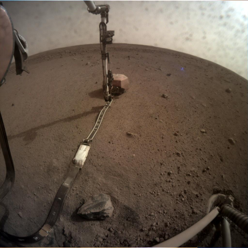 Nasa's Mars lander InSight acquired this image using its Instrument Context Camera on Sol 56