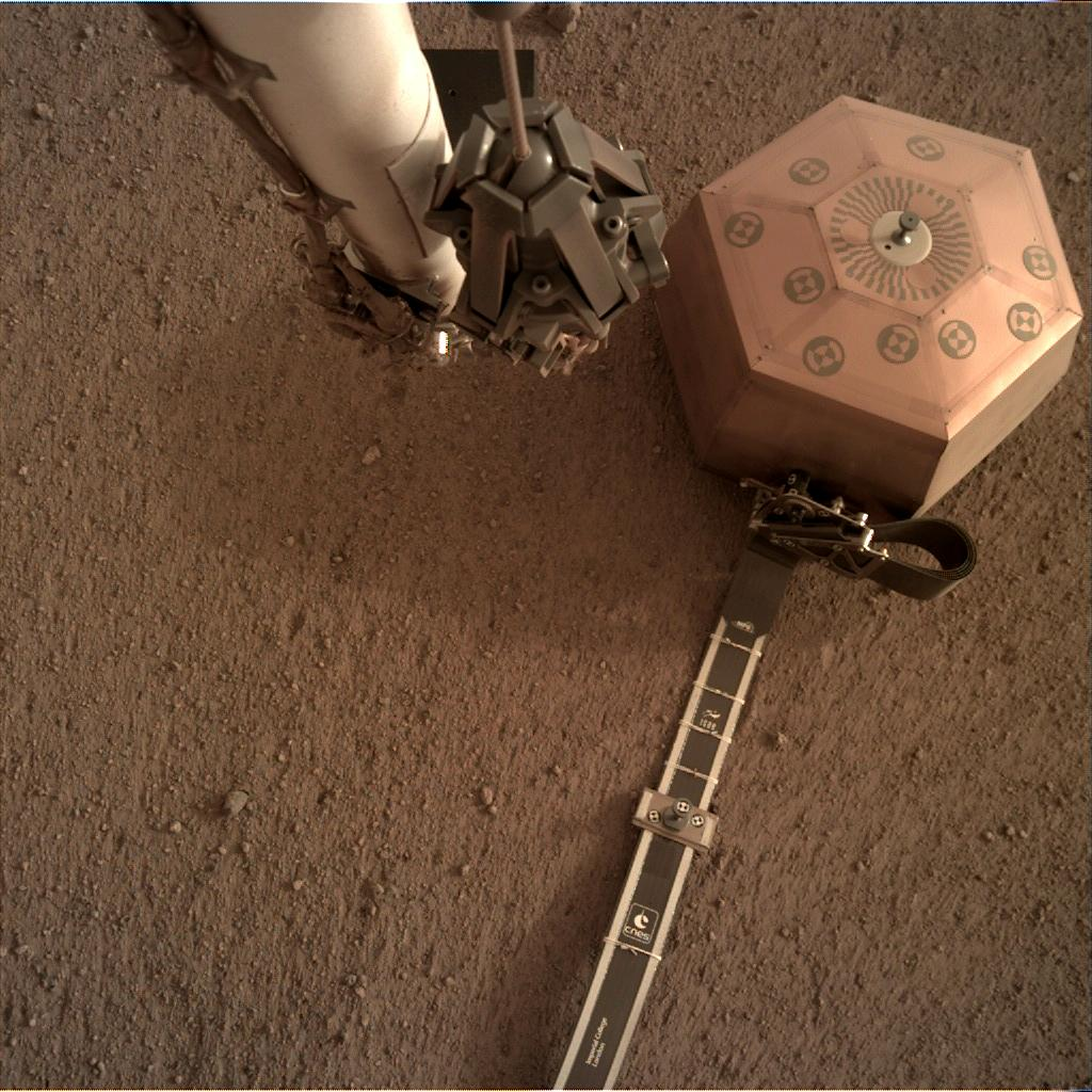 Nasa's Mars lander InSight acquired this image using its Instrument Deployment Camera on Sol 56