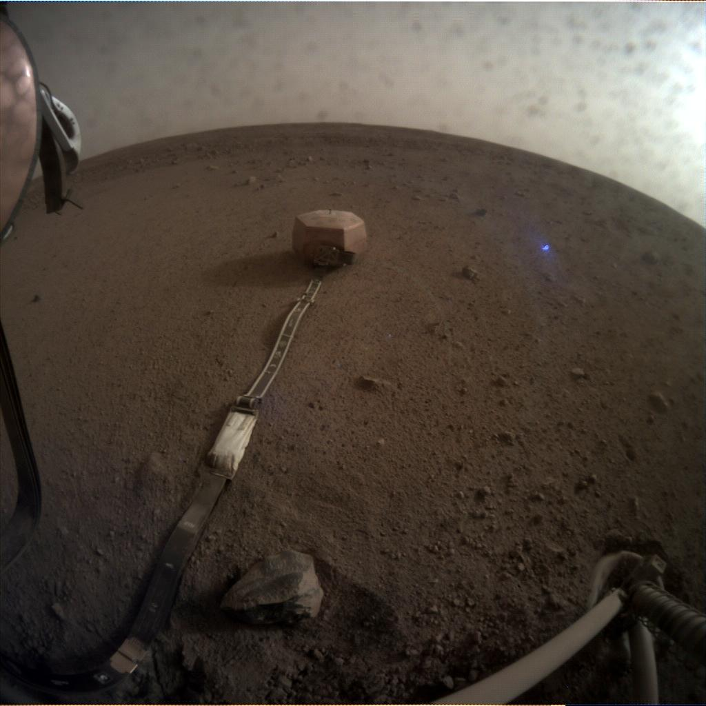 Nasa's Mars lander InSight acquired this image using its Instrument Context Camera on Sol 58