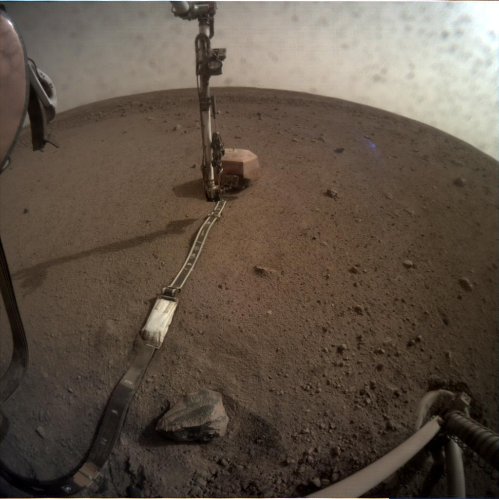 Nasa's Mars lander InSight acquired this image using its Instrument Context Camera on Sol 59