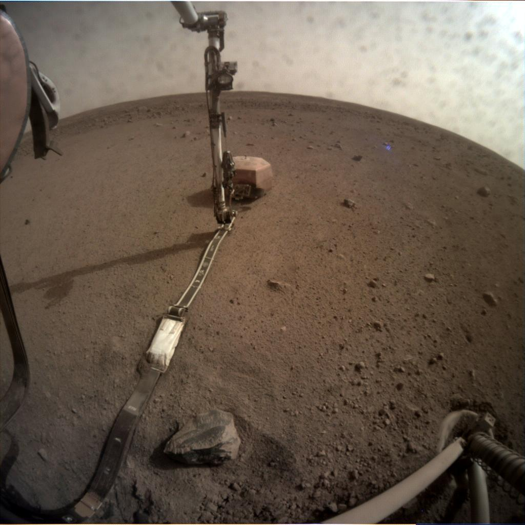 Nasa's Mars lander InSight acquired this image using its Instrument Context Camera on Sol 61