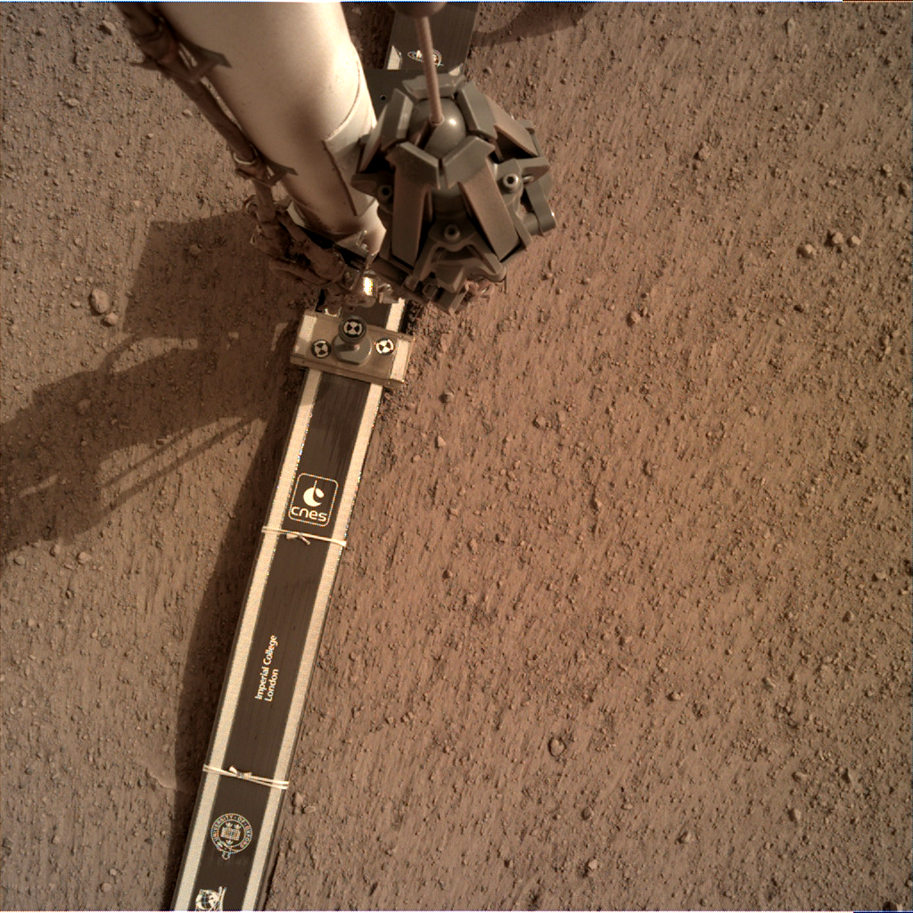 Nasa's Mars lander InSight acquired this image using its Instrument Deployment Camera on Sol 61