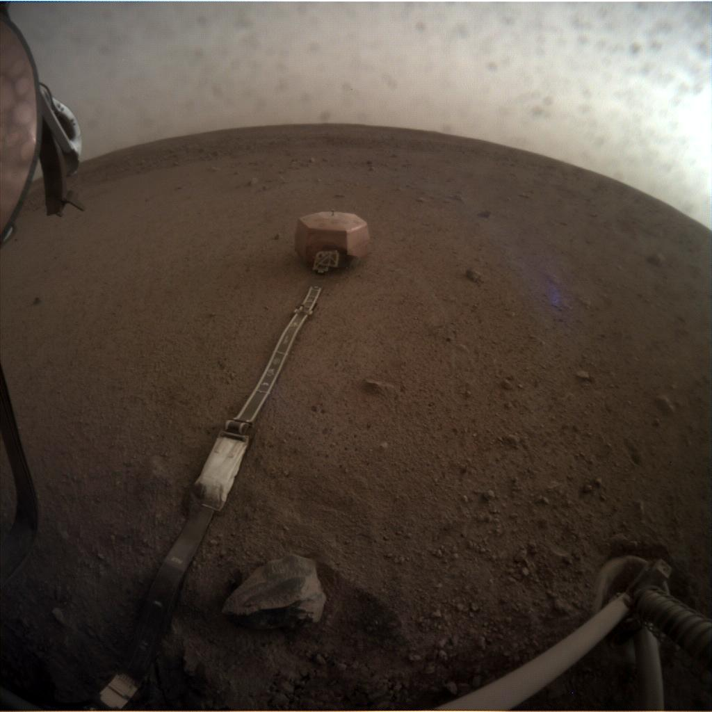 Nasa's Mars lander InSight acquired this image using its Instrument Context Camera on Sol 62