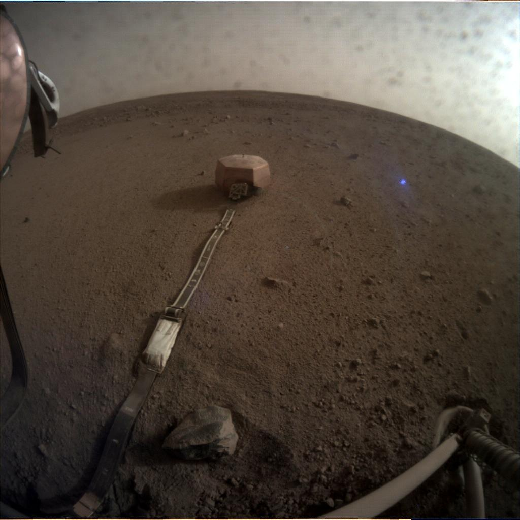 Nasa's Mars lander InSight acquired this image using its Instrument Context Camera on Sol 63