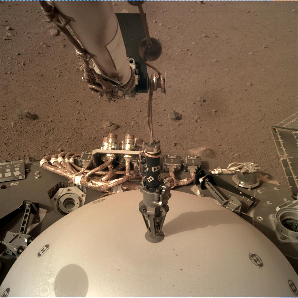 Nasa's Mars lander InSight acquired this image using its Instrument Deployment Camera on Sol 65